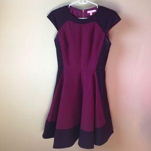 Ted Baker maroon wool dress